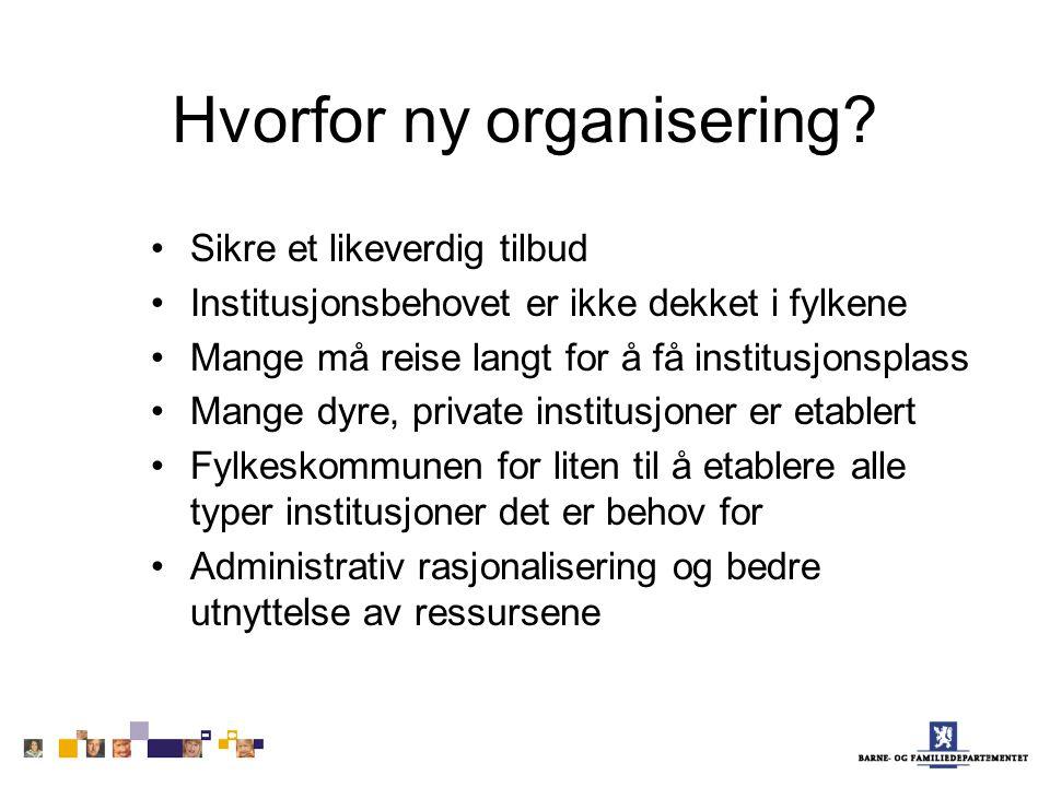 Hvorfor ny organisering