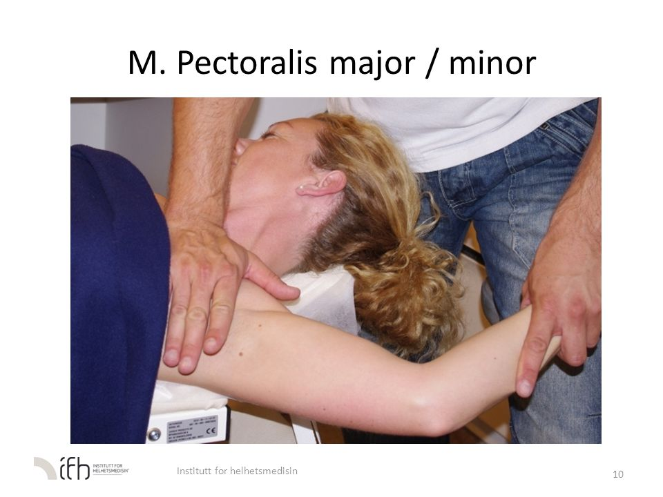 M. Pectoralis major / minor