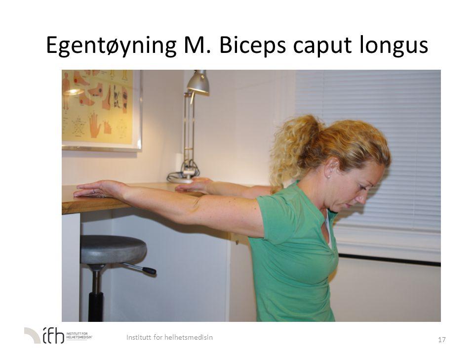 Egentøyning M. Biceps caput longus