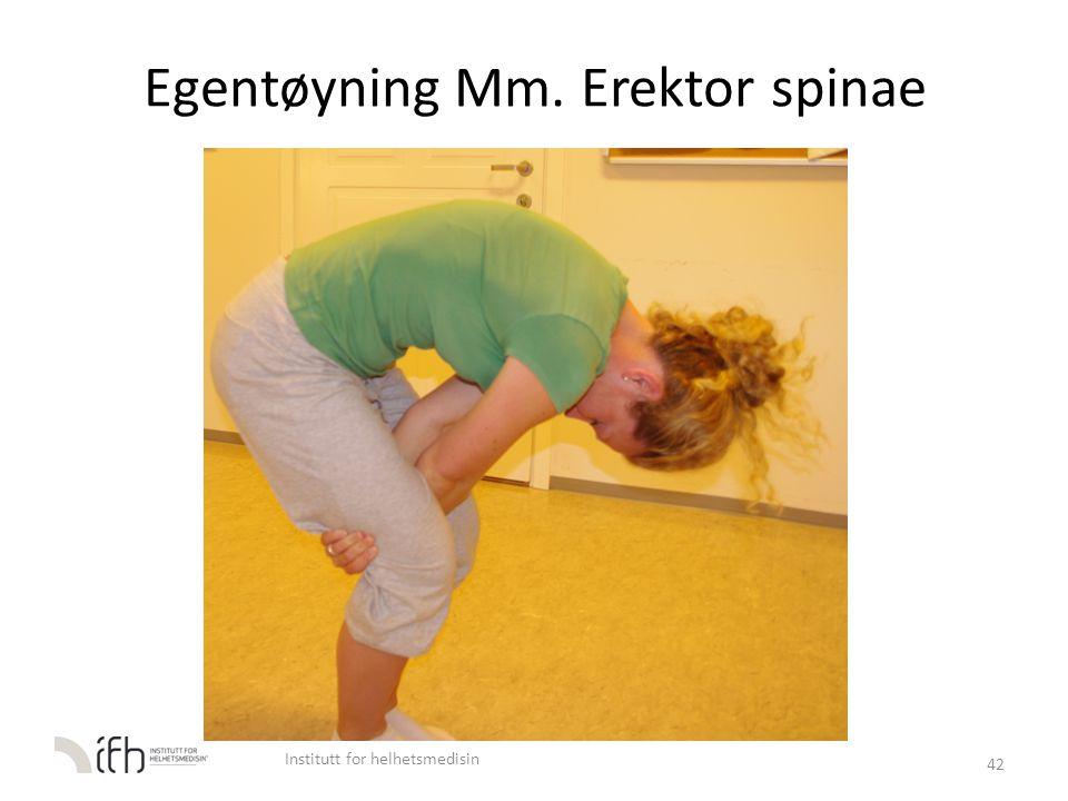 Egentøyning Mm. Erektor spinae