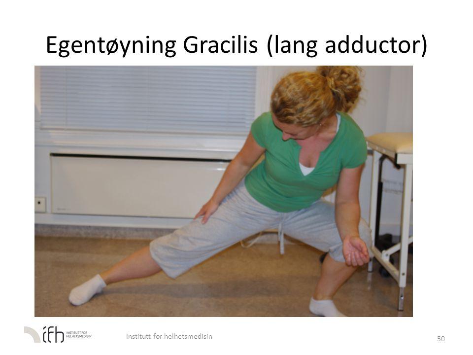 Egentøyning Gracilis (lang adductor)
