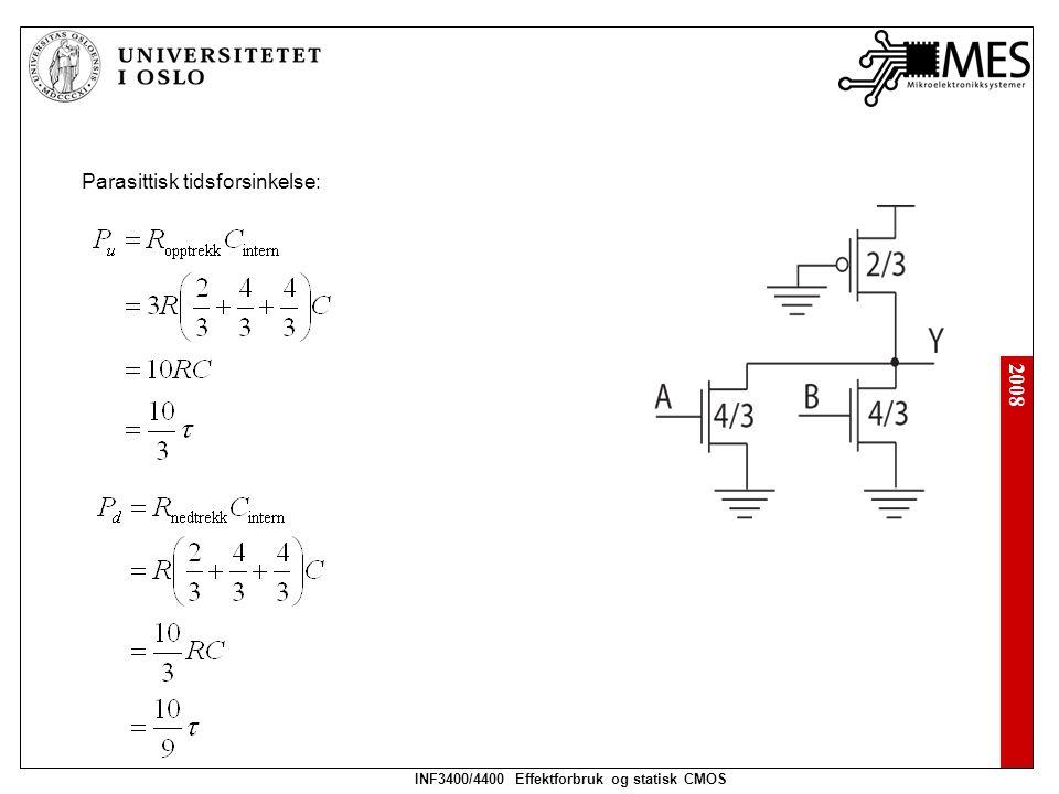 INF3400/4400 Effektforbruk og statisk CMOS