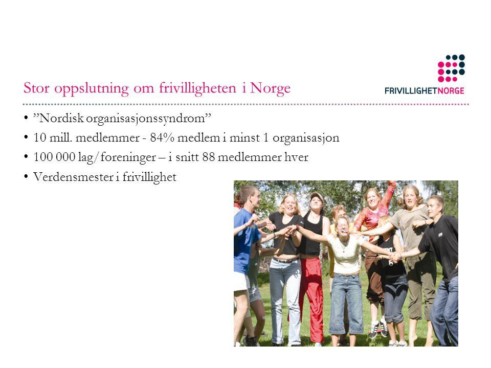 Stor oppslutning om frivilligheten i Norge