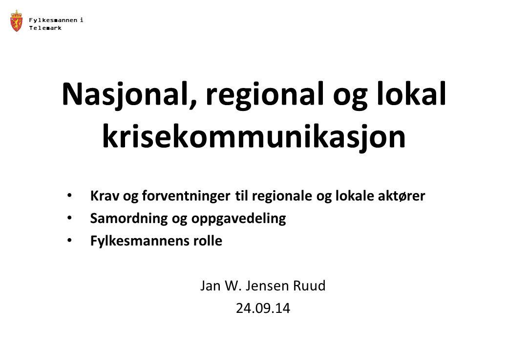 Nasjonal, regional og lokal krisekommunikasjon