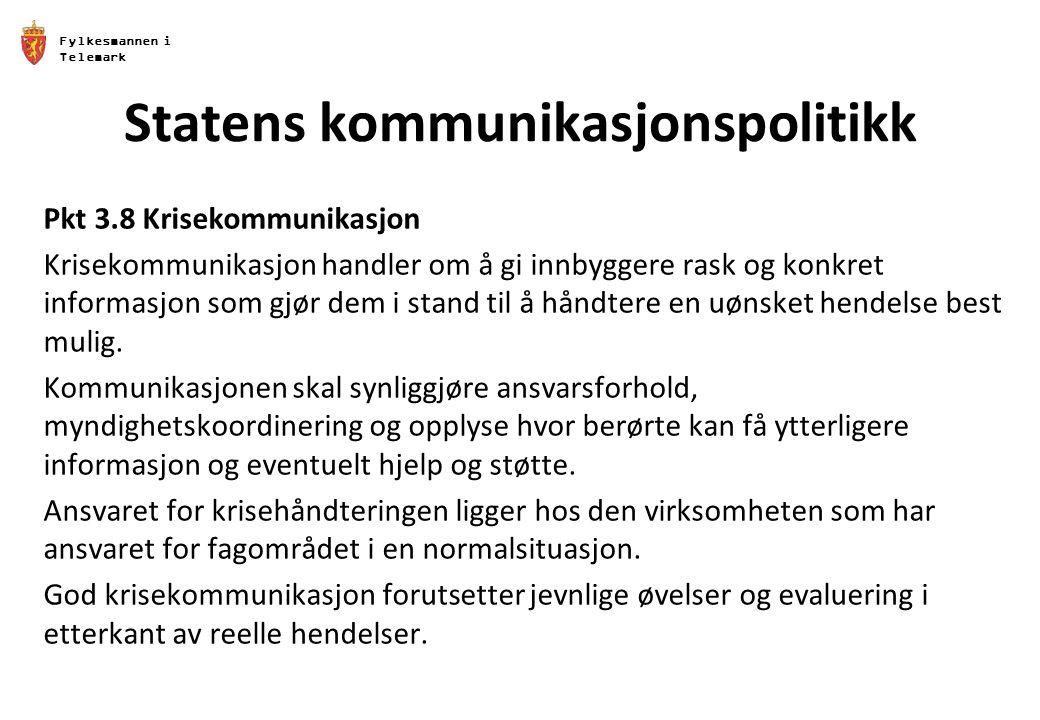 Statens kommunikasjonspolitikk
