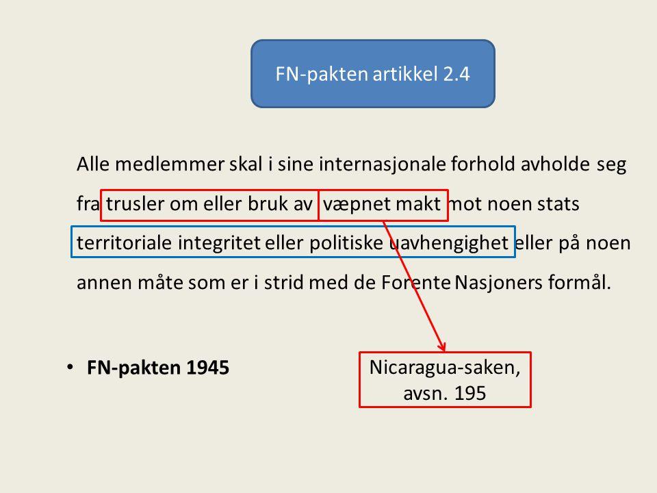 FN-pakten artikkel 2.4