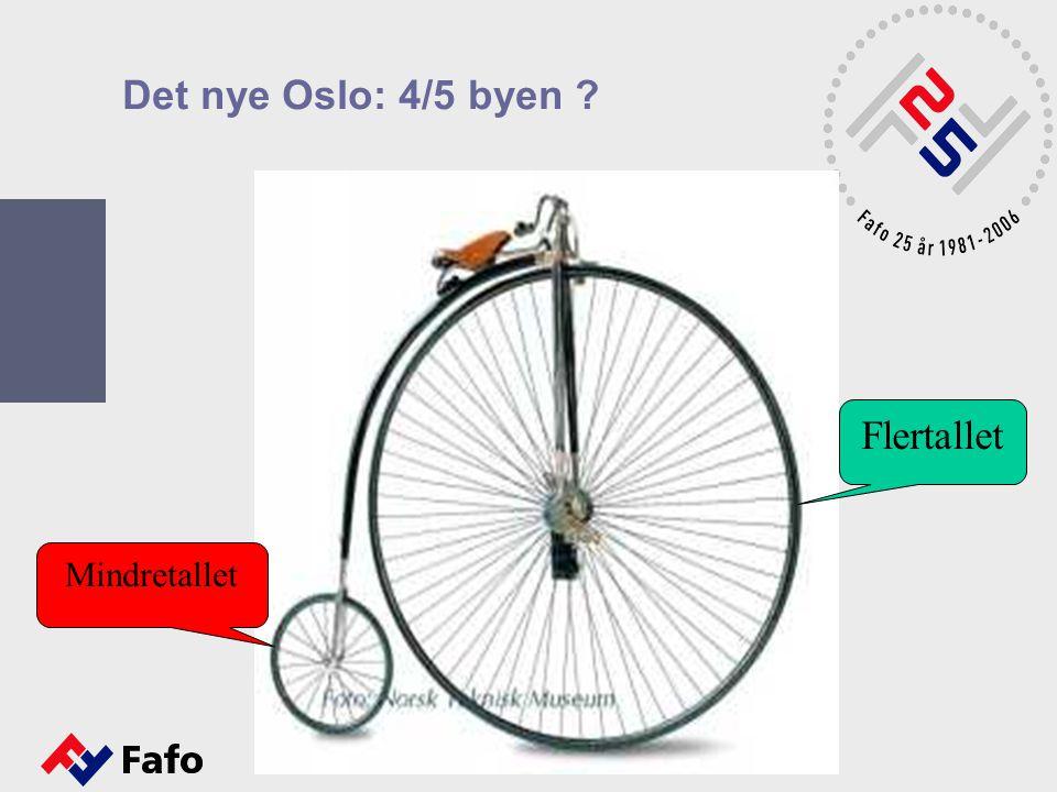 Det nye Oslo: 4/5 byen Flertallet Mindretallet