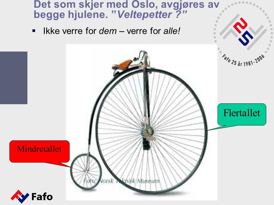 Det som skjer med Oslo, avgjøres av begge hjulene. Veltepetter