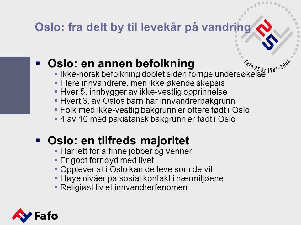 Oslo: fra delt by til levekår på vandring