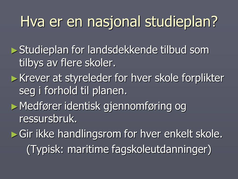 Hva er en nasjonal studieplan