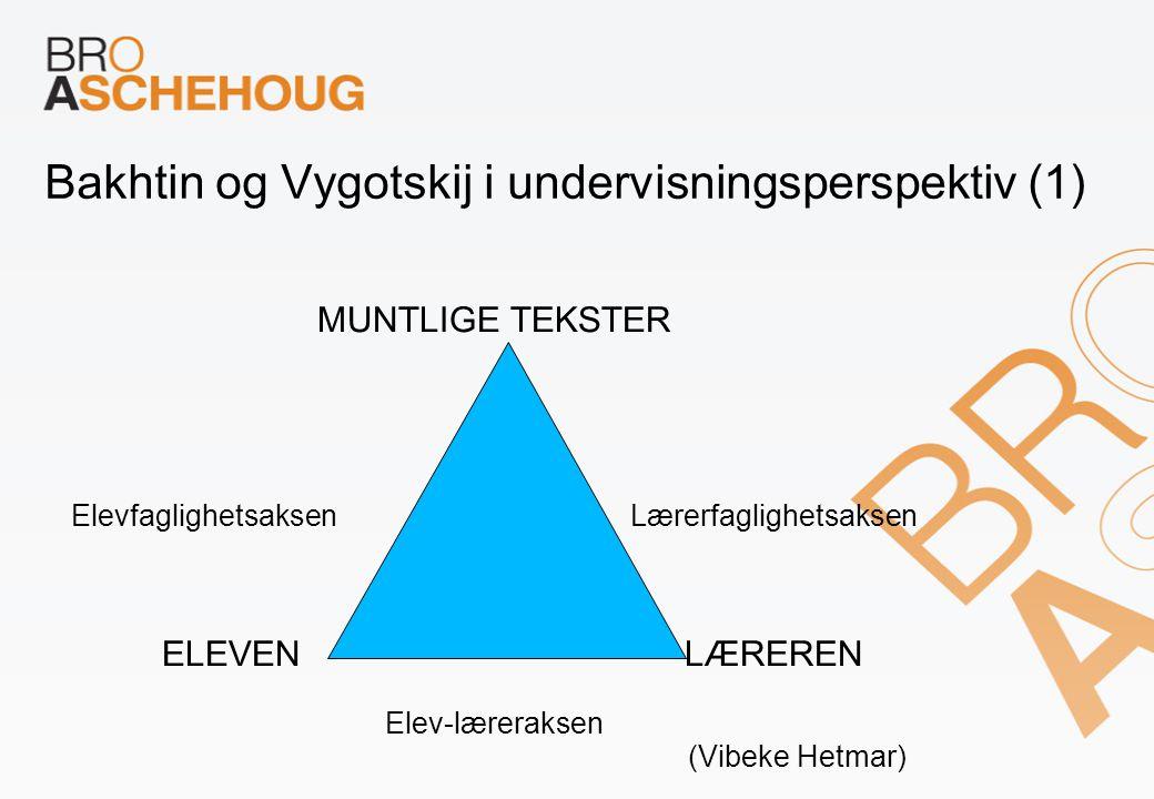 Bakhtin og Vygotskij i undervisningsperspektiv (1)