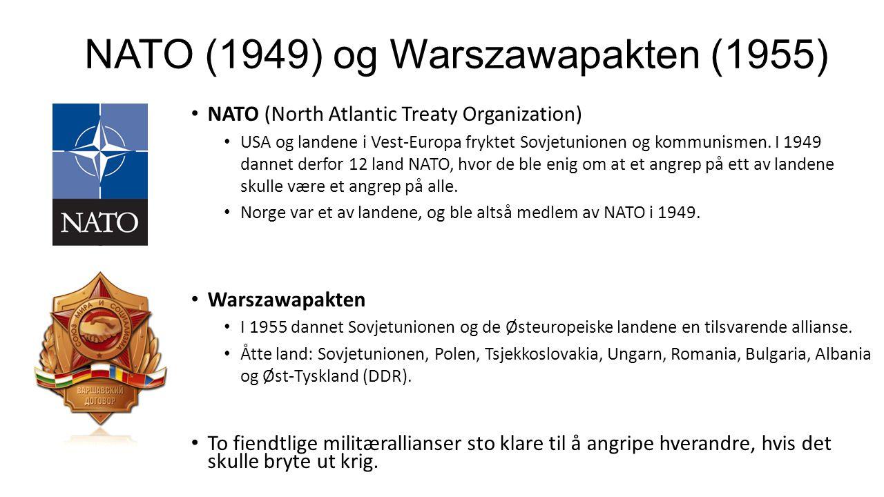 NATO (1949) og Warszawapakten (1955)