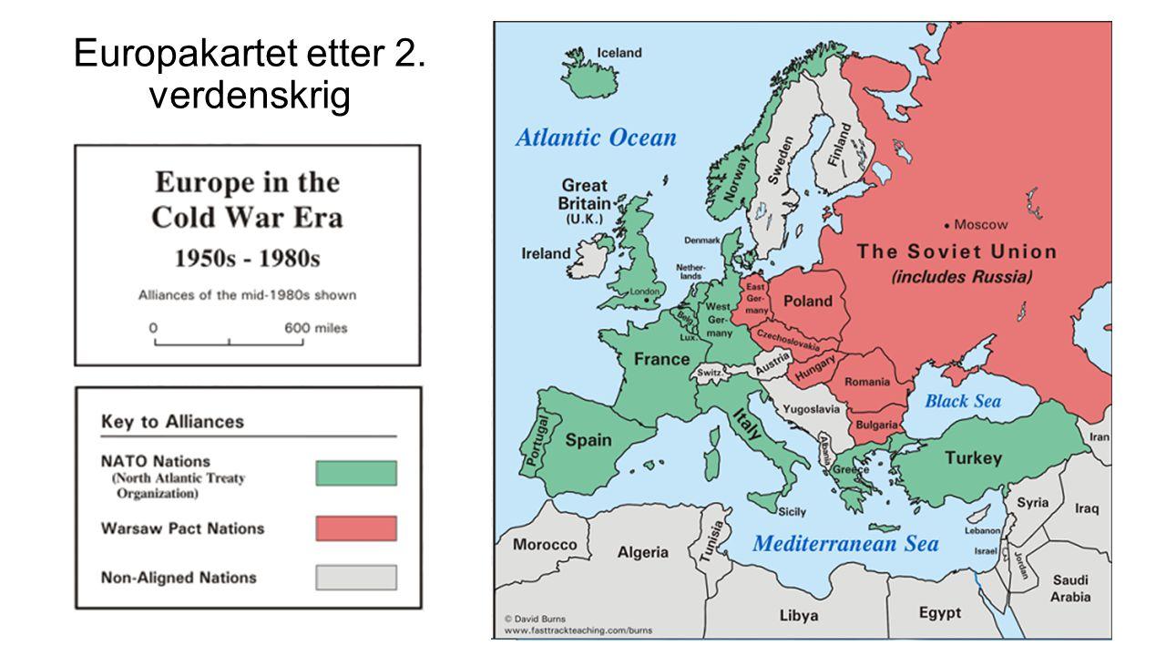 Europakartet etter 2. verdenskrig