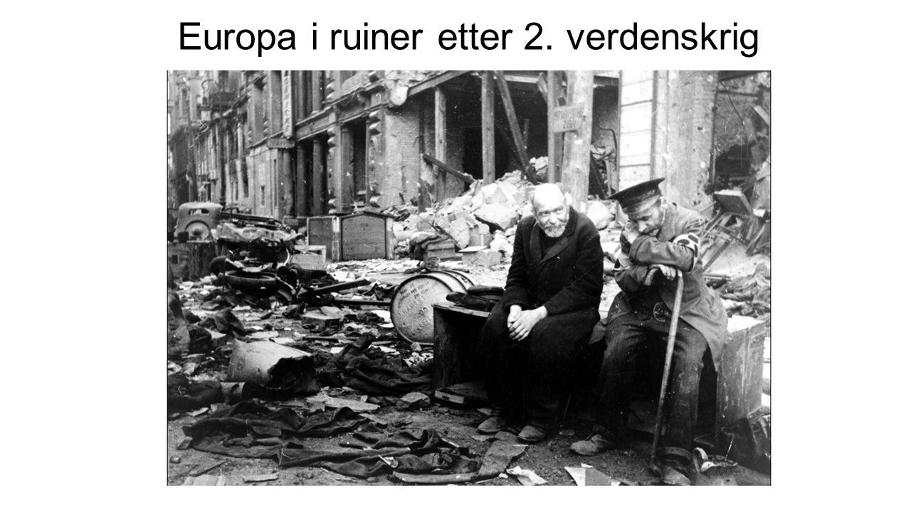 Europa i ruiner etter 2. verdenskrig