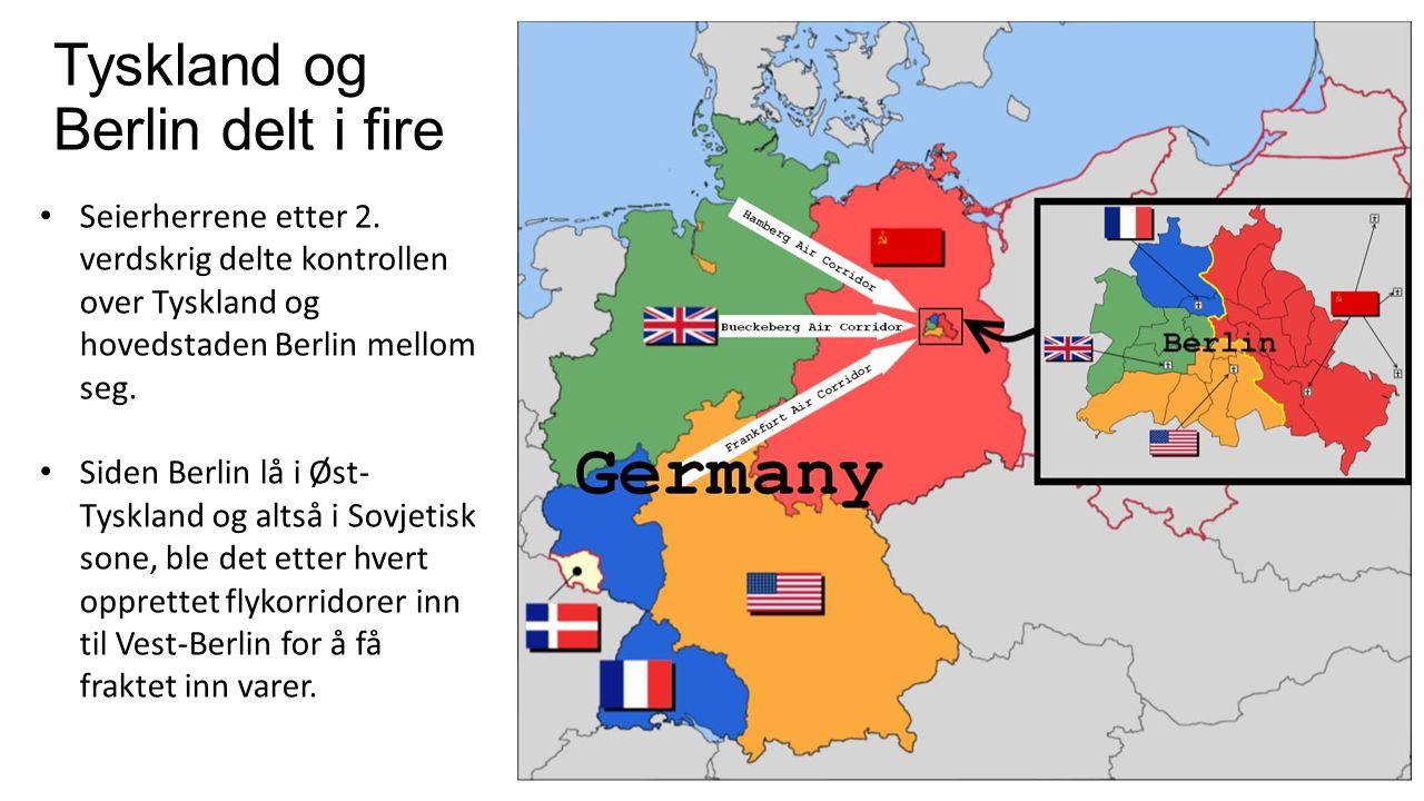 Tyskland og Berlin delt i fire
