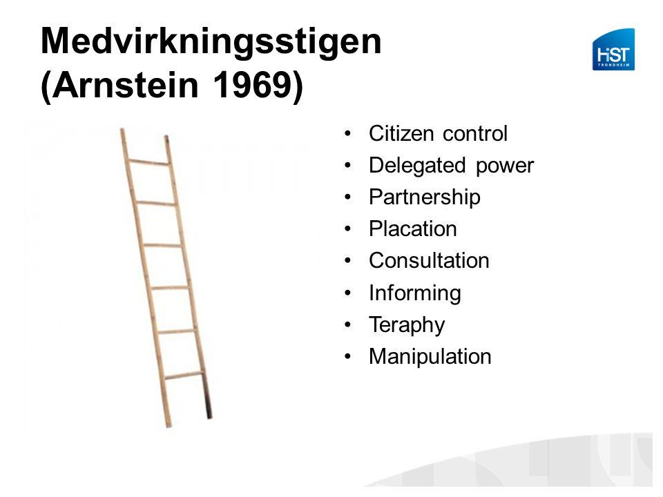 Medvirkningsstigen (Arnstein 1969)
