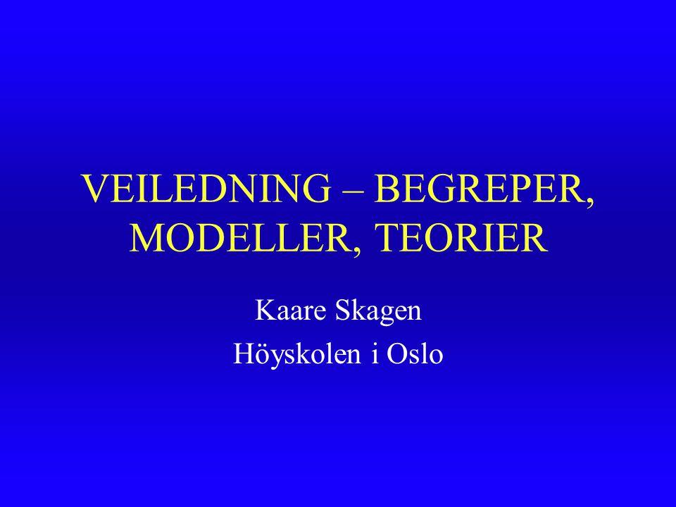 VEILEDNING – BEGREPER, MODELLER, TEORIER
