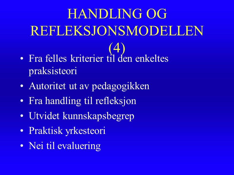 HANDLING OG REFLEKSJONSMODELLEN (4)
