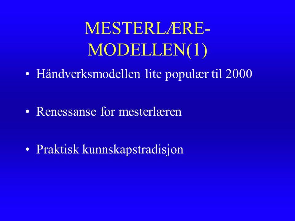 MESTERLÆRE-MODELLEN(1)