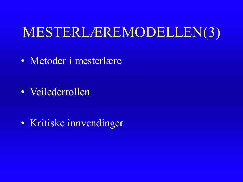 MESTERLÆREMODELLEN(3)