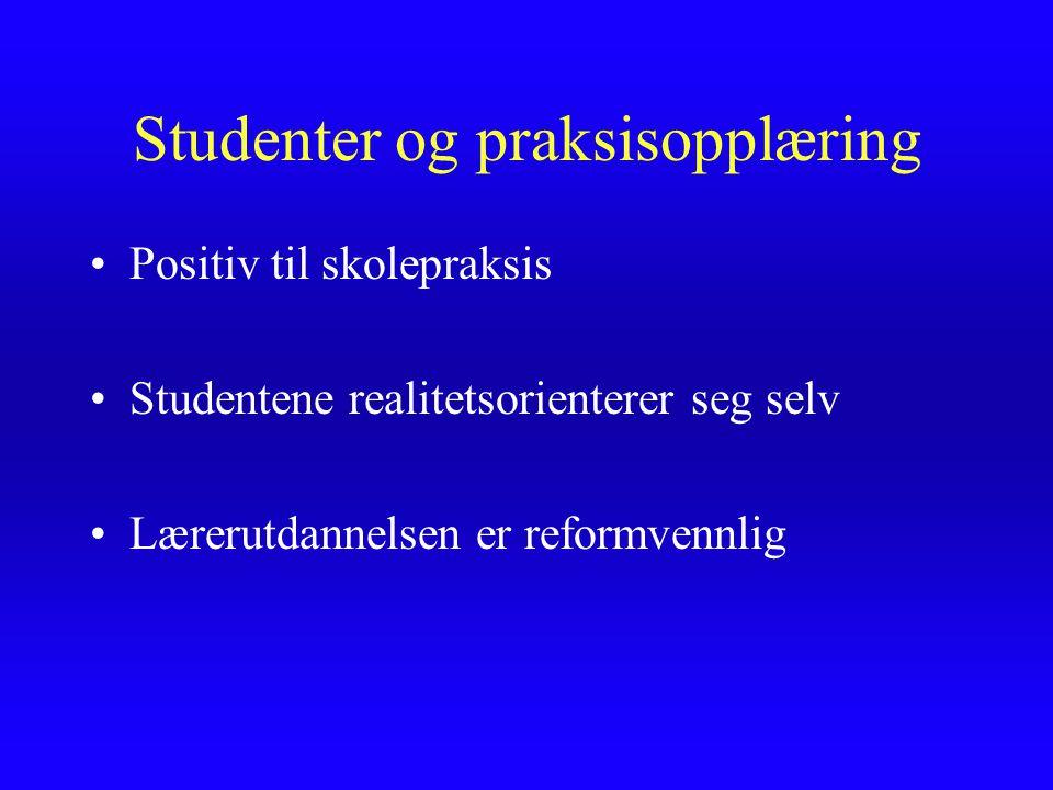 Studenter og praksisopplæring