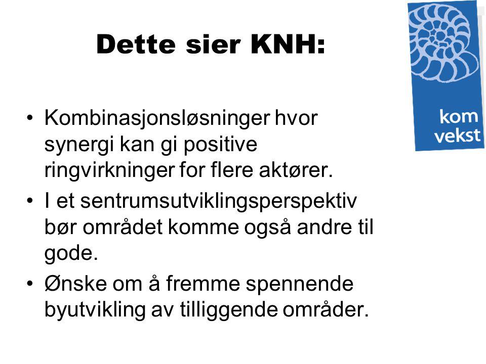 Dette sier KNH: Kombinasjonsløsninger hvor synergi kan gi positive ringvirkninger for flere aktører.