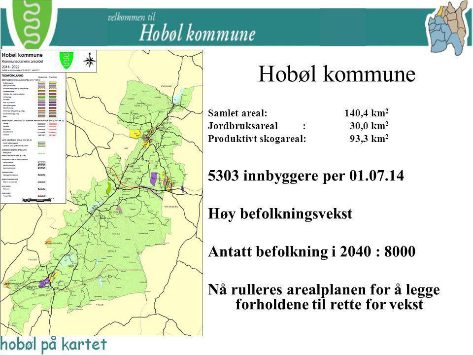 Hobøl kommune 5303 innbyggere per 01.07.14 Høy befolkningsvekst