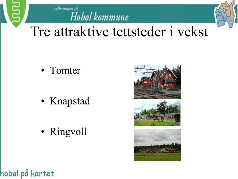 Tre attraktive tettsteder i vekst