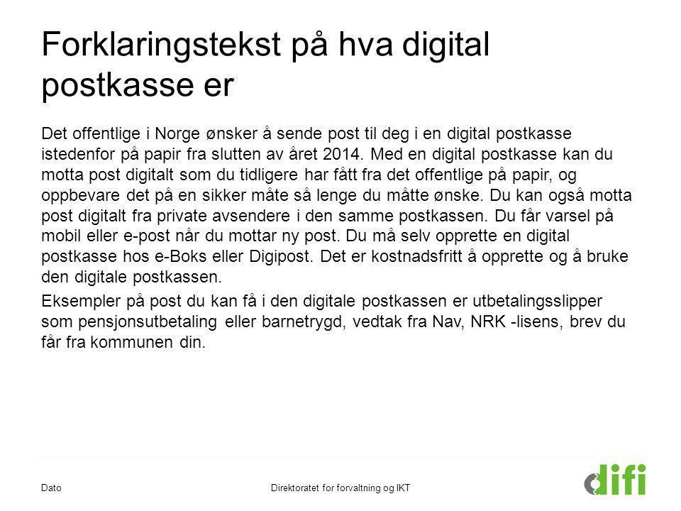 Forklaringstekst på hva digital postkasse er