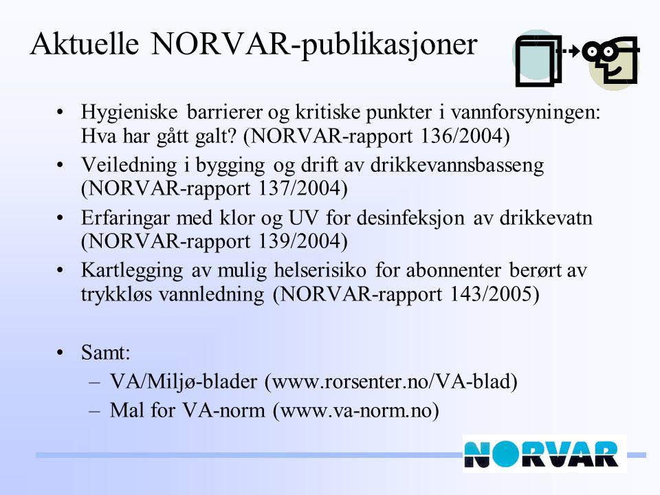 Aktuelle NORVAR-publikasjoner