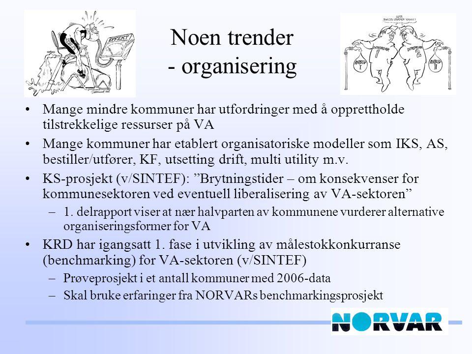 Noen trender - organisering
