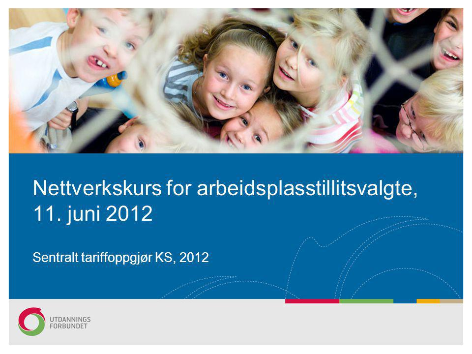 Nettverkskurs for arbeidsplasstillitsvalgte, 11. juni 2012