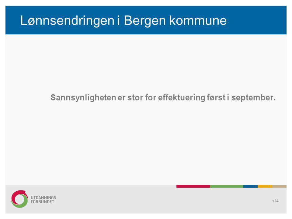 Lønnsendringen i Bergen kommune