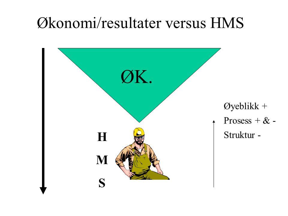 Økonomi/resultater versus HMS