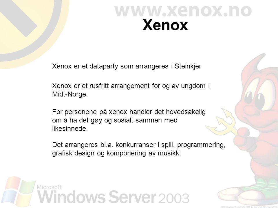 Xenox Xenox er et dataparty som arrangeres i Steinkjer