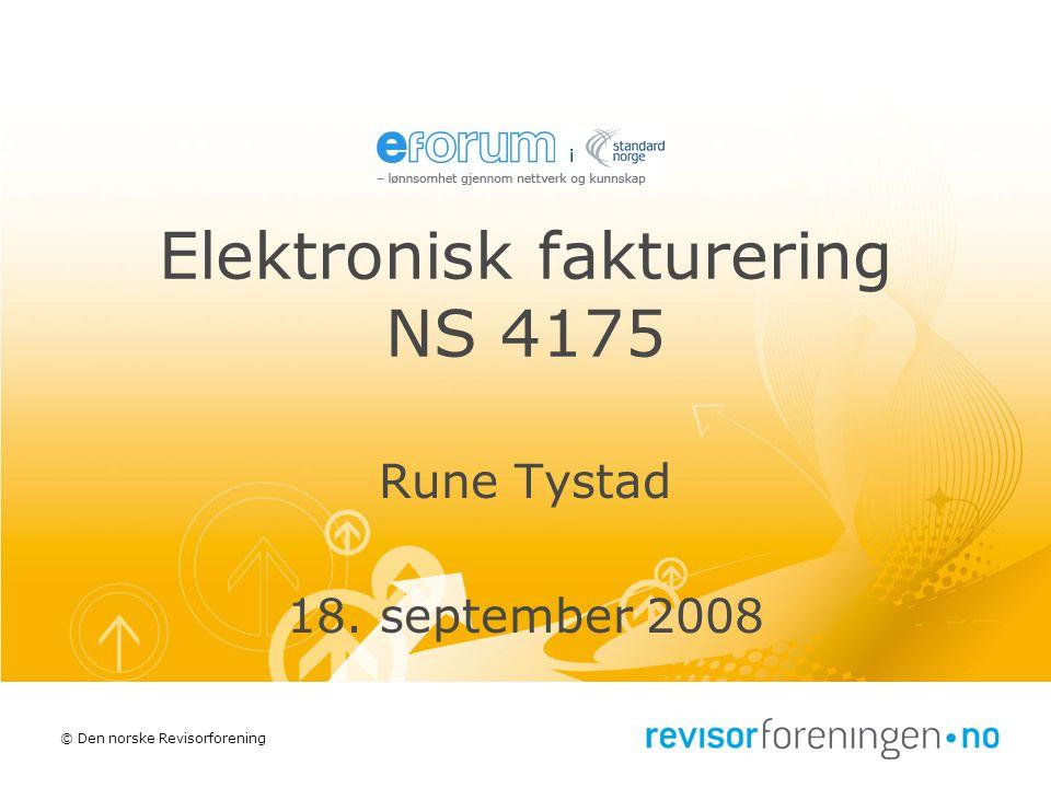 Elektronisk fakturering NS 4175