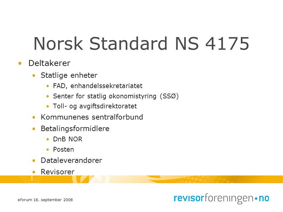 Norsk Standard NS 4175 Deltakerer Statlige enheter
