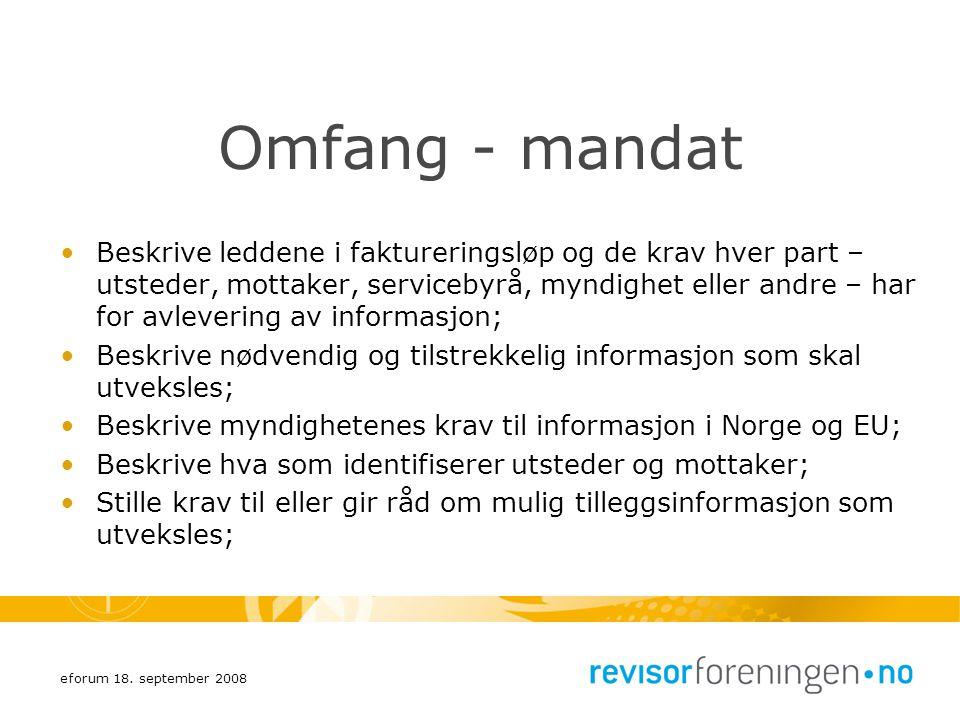 Omfang - mandat