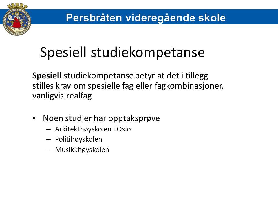 Spesiell studiekompetanse