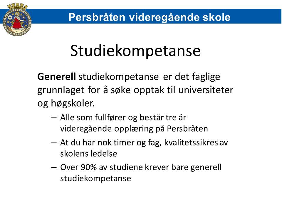 Studiekompetanse Persbråten videregående skole