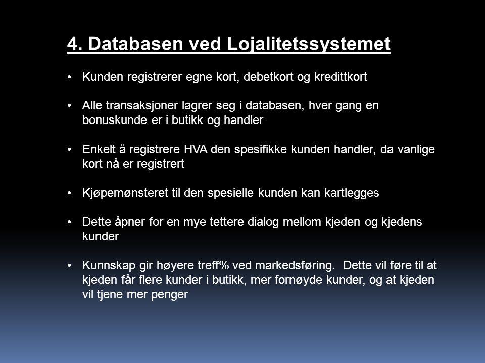 4. Databasen ved Lojalitetssystemet
