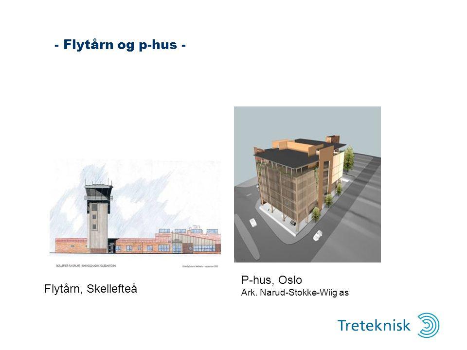 - Flytårn og p-hus - P-hus, Oslo Flytårn, Skellefteå