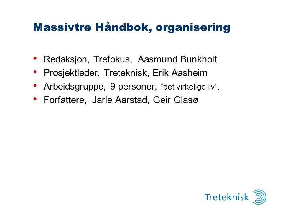 Massivtre Håndbok, organisering