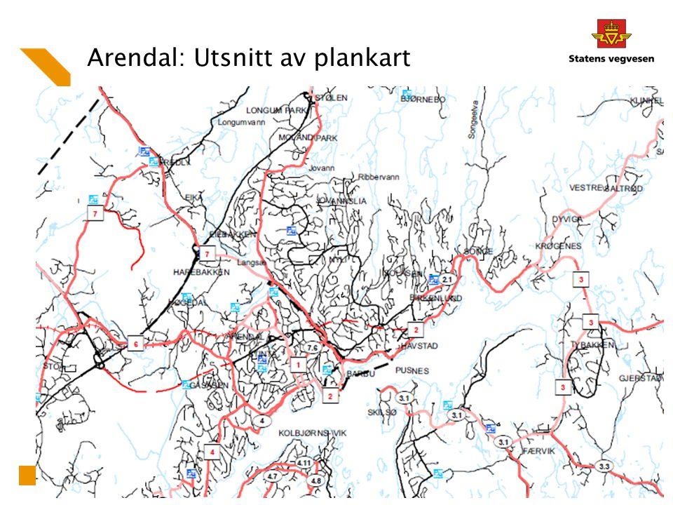 Arendal: Utsnitt av plankart