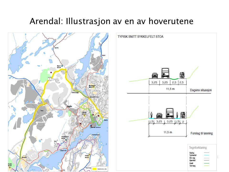 Arendal: Illustrasjon av en av hoverutene