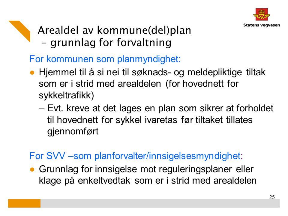Arealdel av kommune(del)plan - grunnlag for forvaltning