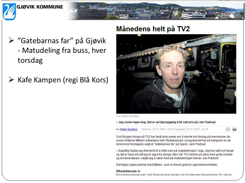 Gatebarnas far på Gjøvik - Matudeling fra buss, hver torsdag