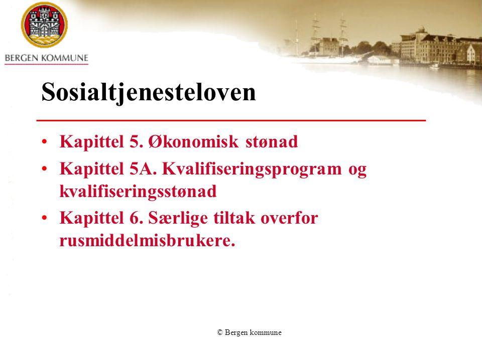 Sosialtjenesteloven Kapittel 5. Økonomisk stønad