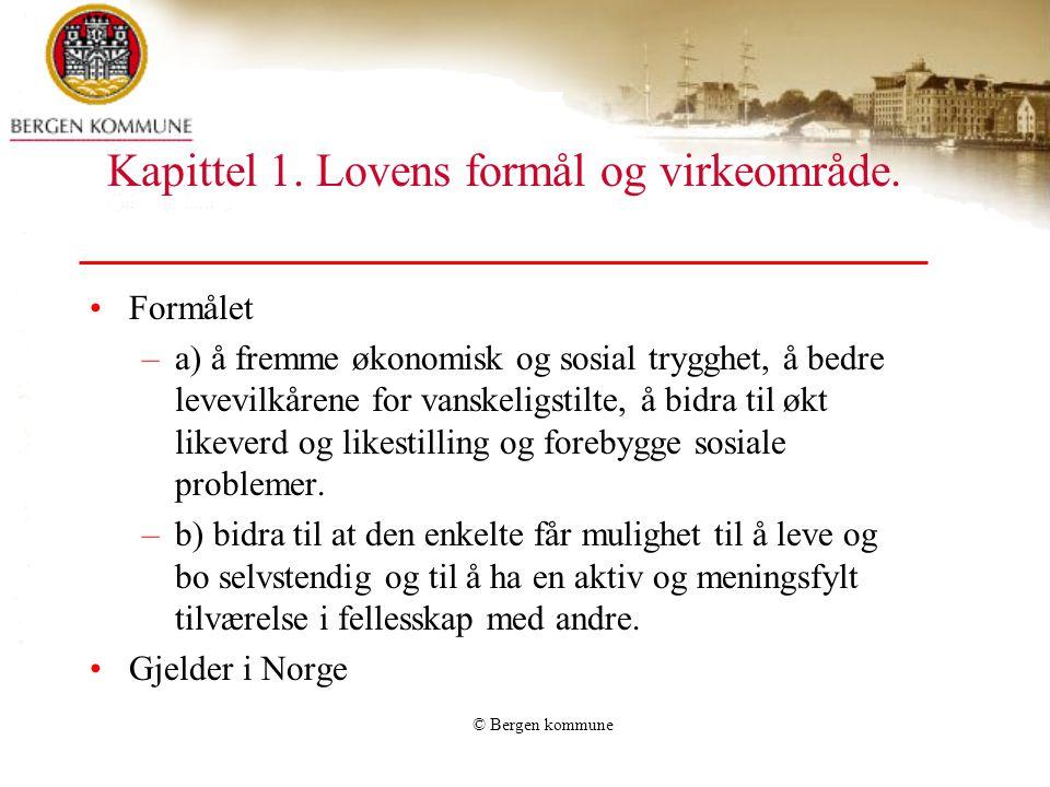 Kapittel 1. Lovens formål og virkeområde.