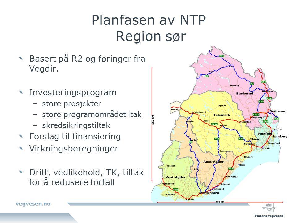 Planfasen av NTP Region sør